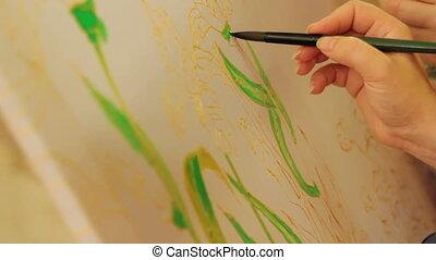 batik, défaillance, painting., temps