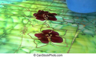 Batik Flower Painting, Kuala Lumpur, Malaysia