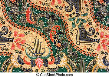 batik, indonesio, sarong