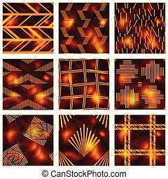 batik, wzory, komplet, czerwony