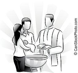 batismo, sacramento, santissimo