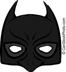 Batman mask, illustration, vector on white background.