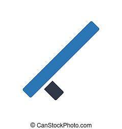 baton glyph color icon