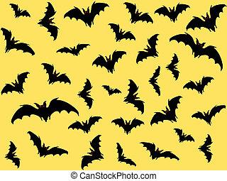 bats - Bats. Vector