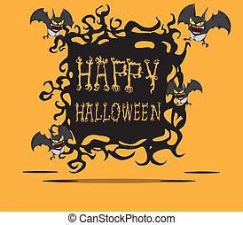Bats. Halloween monster