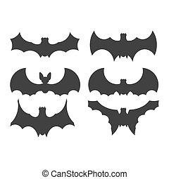 Bats icons set