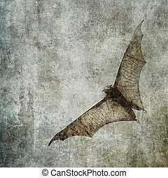 bats in the dark cloudy sky, perfect halloween background -...