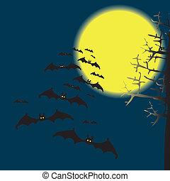 Bats in the night sky