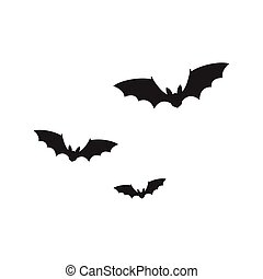 Bats isolated on white background
