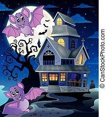 Bats near haunted house