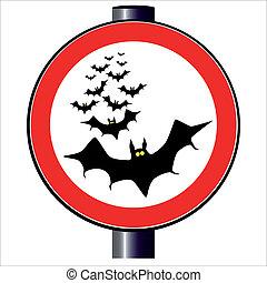 Bats Traffic Sign