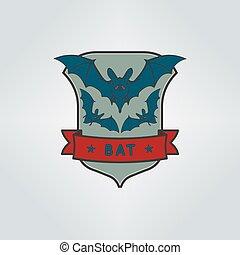 Bats. Vector emblem