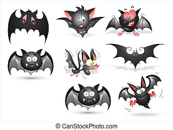 Bats Vectors - Creative Abstract Conceptual Design Art of...