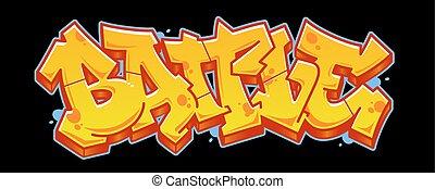 battaglia, iscrizione, stile, graffito