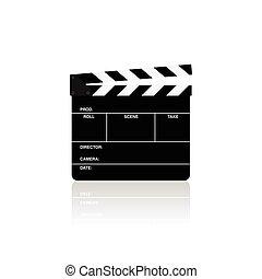 battaglio, film, isolato, illustrazione, vettore, asse