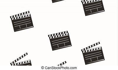 battant, film, mouvement, retro, pellicule, planche