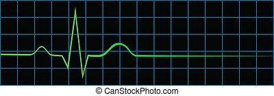 battement, coeur, dernier, électrocardiogramme