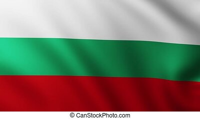 battement des gouvernes, drapeau, bulgarie, vent, fond, fullscreen, grand