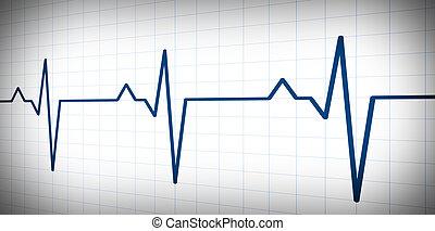 battement, graphique, pouls, vague, simple, audio, ou