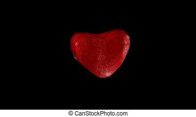 battement, heart., rouges