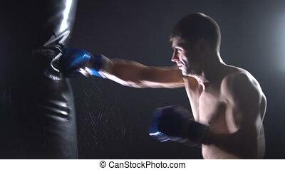 battements, boxeur, poire