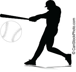 batter in position vector silhouettes