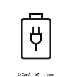 batter thin line icon