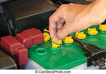 batteri, bil mekaniker