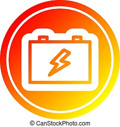 batterie, gradient, chaud, industriel, spectre