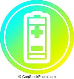 batterie, gradient, froid, spectre, circulaire