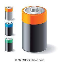 batterie, icônes