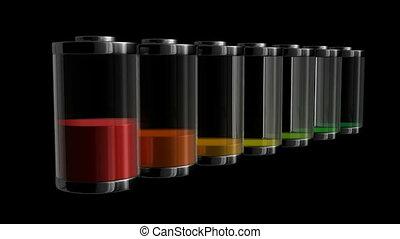 batterie, niveau