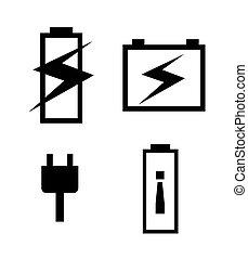 batterie puissance graphique eps10 puissance batterie illustration vecteur conception. Black Bedroom Furniture Sets. Home Design Ideas