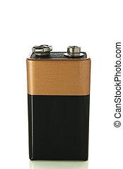 batterie, sentier, coupure, blanc, 9v
