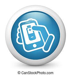 batterie, telefon, wasserwaage