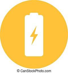 batterie, vecteur, icône