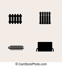 vektor clipart von zentral heizk rper heizung symbole. Black Bedroom Furniture Sets. Home Design Ideas