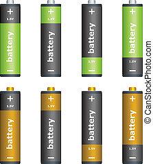 batterier, vektor