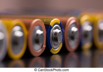 Batteries close up.