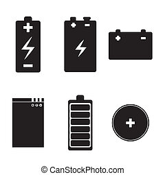 batteries icons over white background vector illustration