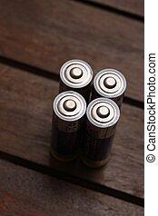 batteries top view