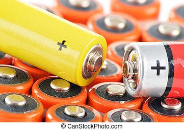batteries., tracić, skład, alkaliczny, chemiczny