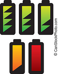 batteries with charge levels