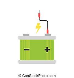 batterij, auto, energie, macht
