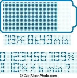 batterij, display