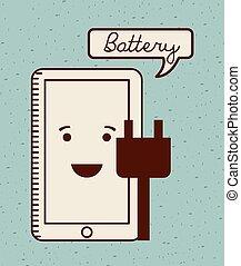 batterij, macht