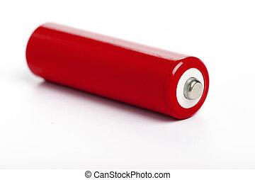 batterij, rood