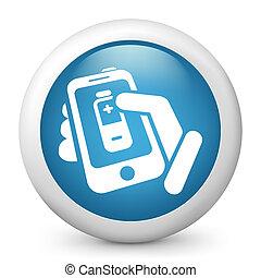batterij, telefoon, niveau