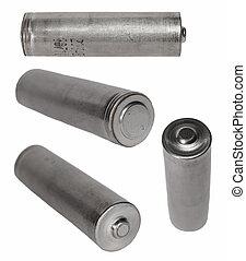 batterij, witte , set, vrijstaand