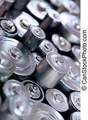 batterijen, stapel